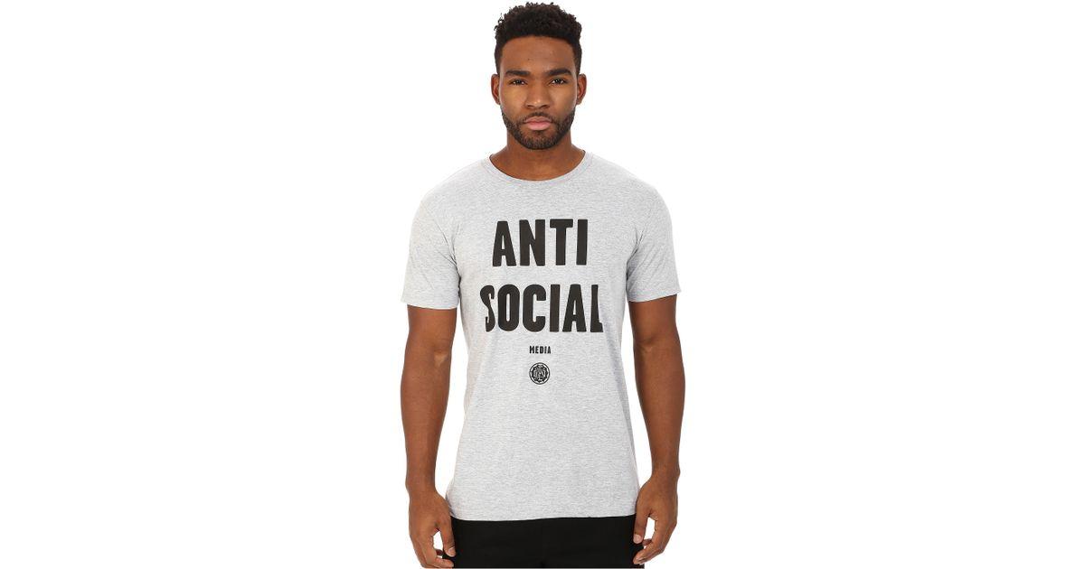 28571db73 Lyst - Obey Anti-social Media Tee in Gray for Men