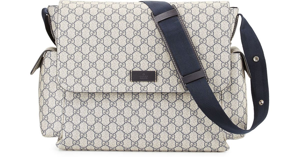 3dcf2954090e Gucci Ssima Faux-leather Diaper Bag W/ Changing Pad in Gray for Men - Lyst
