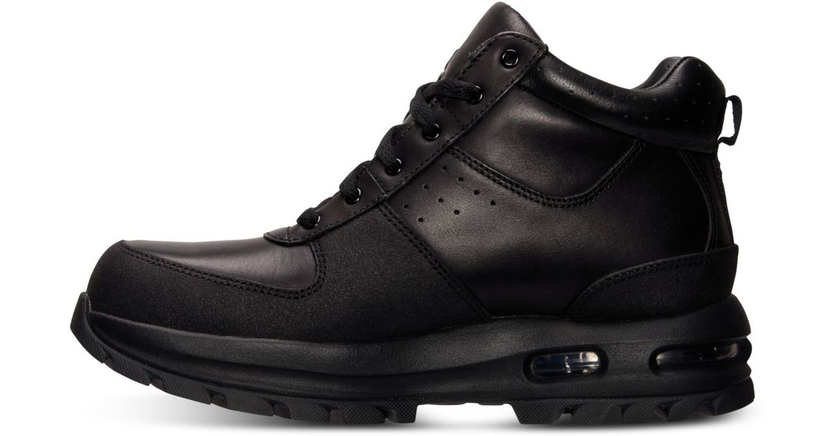 7df6cae81a3 ... get lyst nike air max goaterra leather boots in black for men b6fef  41079