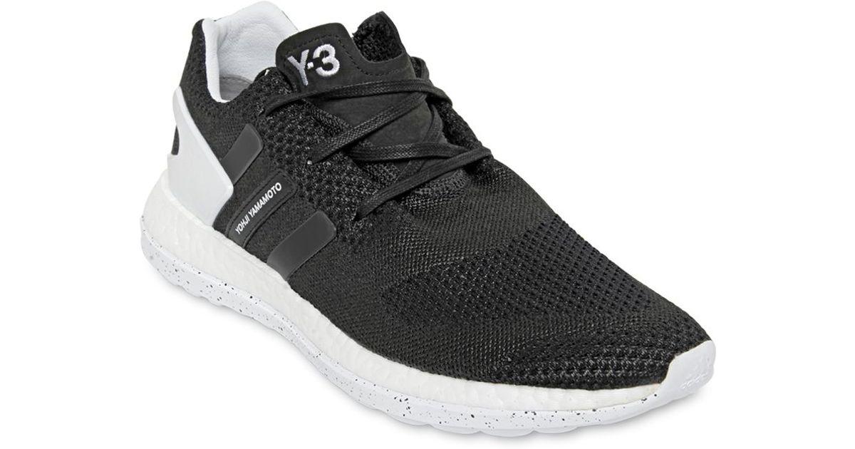 f90f51b3da124 Lyst - Y-3 Pure Boost Zg Primeknit Sneakers in Black for Men