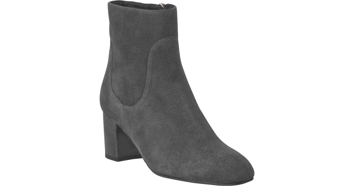 f6febba4b0b L.K.Bennett Simi Block Heeled Ankle Boots in Gray - Lyst