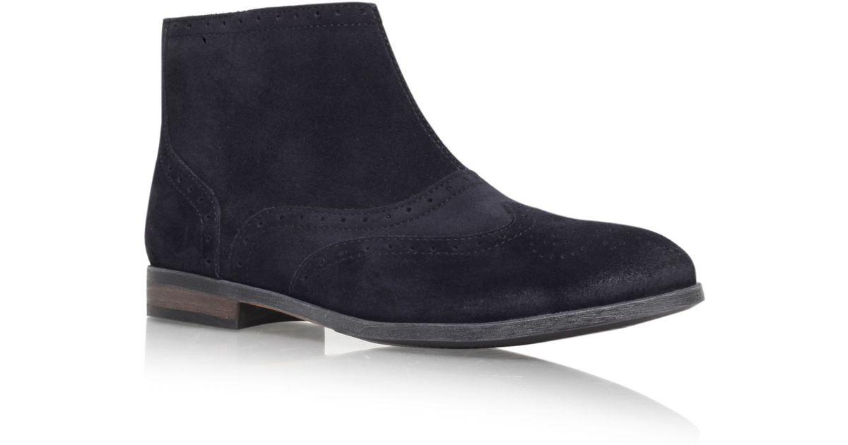 tommy hilfiger billie flat ankle boot in blue for men lyst. Black Bedroom Furniture Sets. Home Design Ideas
