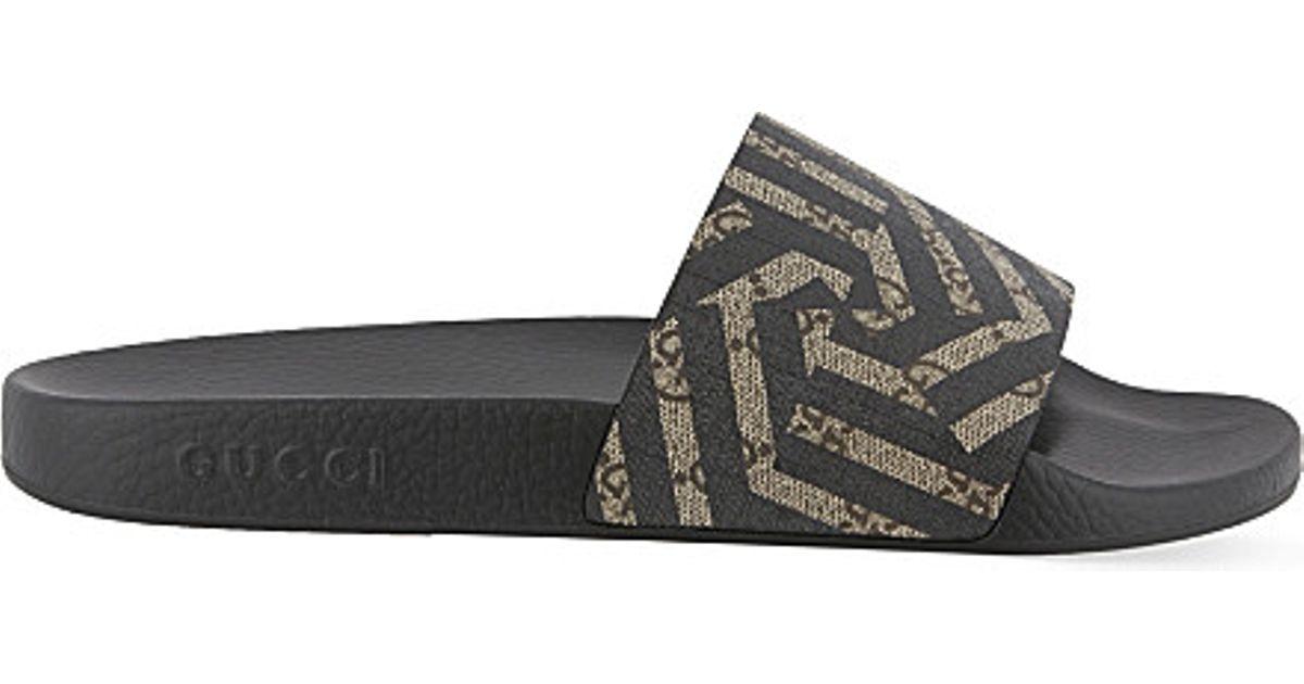 c1e56cc2ada9 Gucci Pursuit Geo Slider Flip-flops in Brown for Men - Lyst