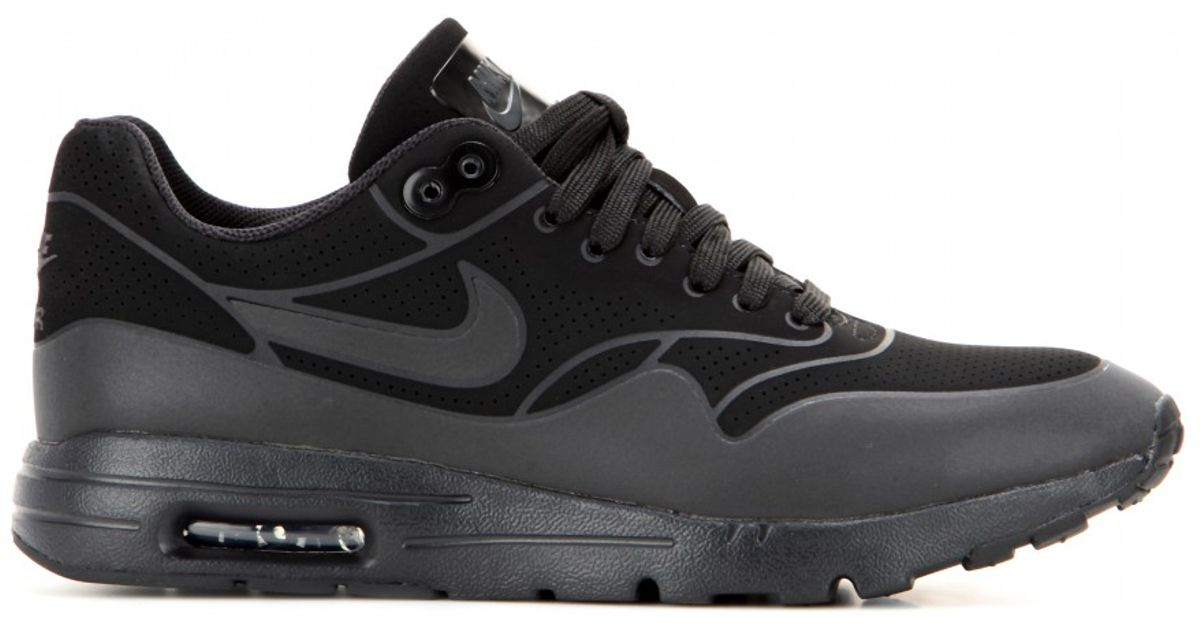 timeless design 31f10 d747f Nike Women s Air Max 1 Ultra Moire Running Sneakers From Finish Line in  Black - Lyst