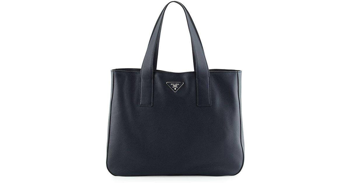 prada fringe purse - Prada Vitello Daino Medium Open Wide Strap Tote Bag in Black ...