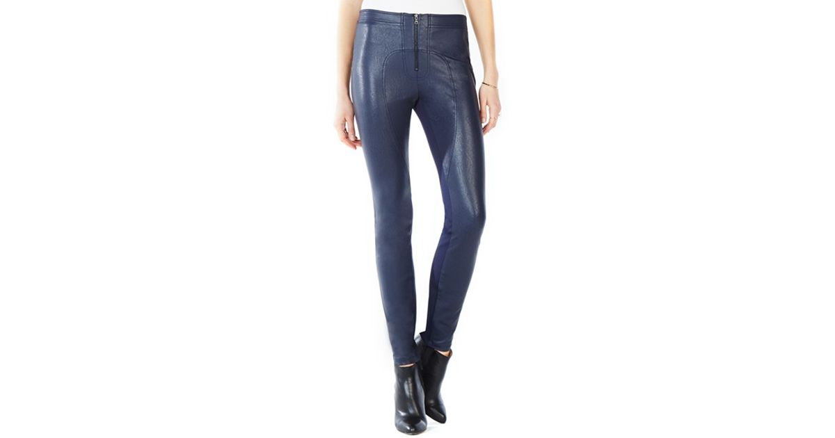 783a42c41b1b6 BCBGMAXAZRIA Sayer Faux-Leather Pants in Blue - Lyst