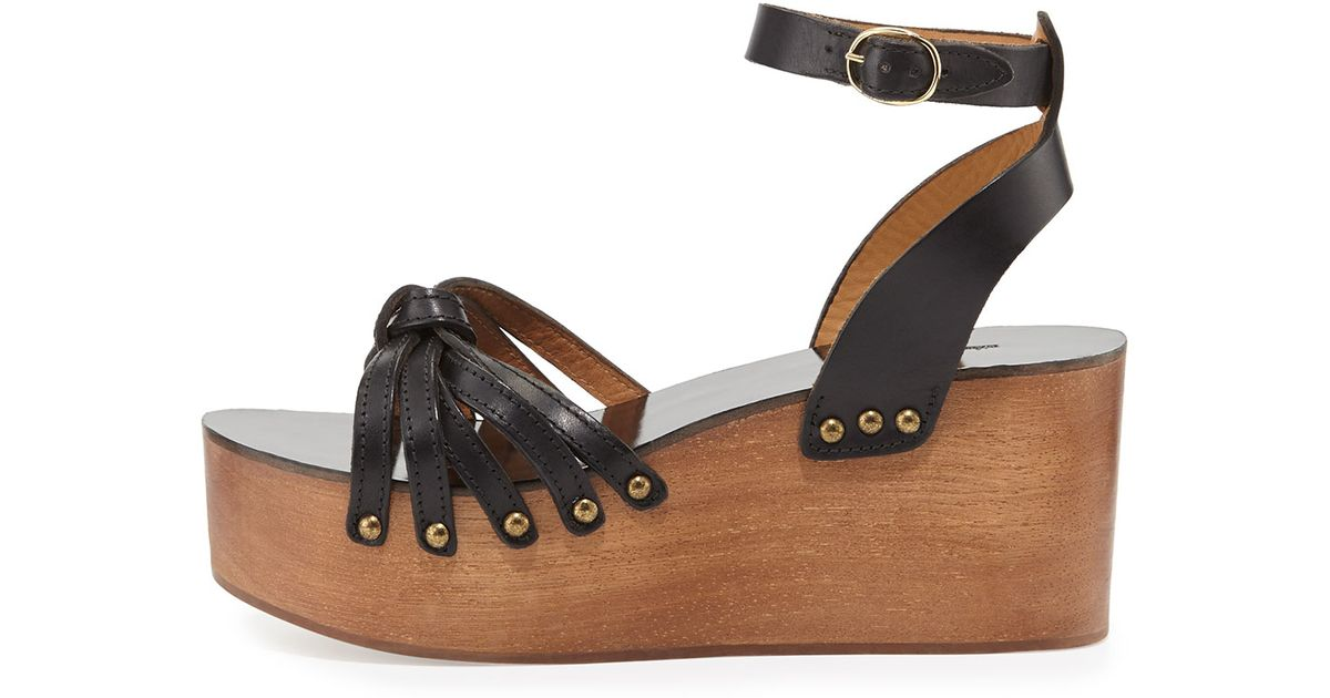 ddfd12fe24c Lyst - Isabel Marant Zia Knotted Leather Sandal in Black