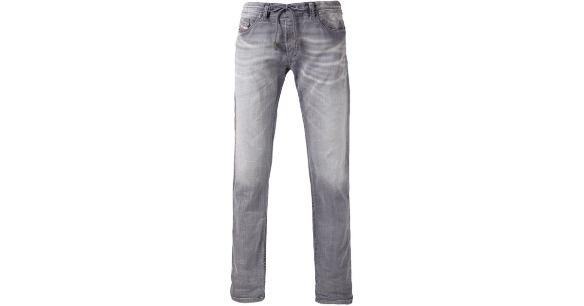 956cc159 DIESEL 'Waykee Jogg' Jeans in Gray for Men - Lyst