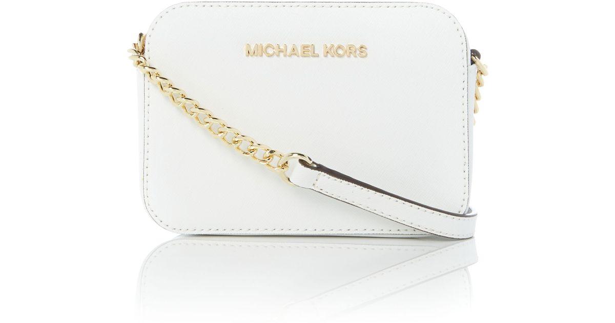 ... ebay michael kors jetset travel white small cross body bag in white lyst  8ff8d 240ce 1fbd8b48be