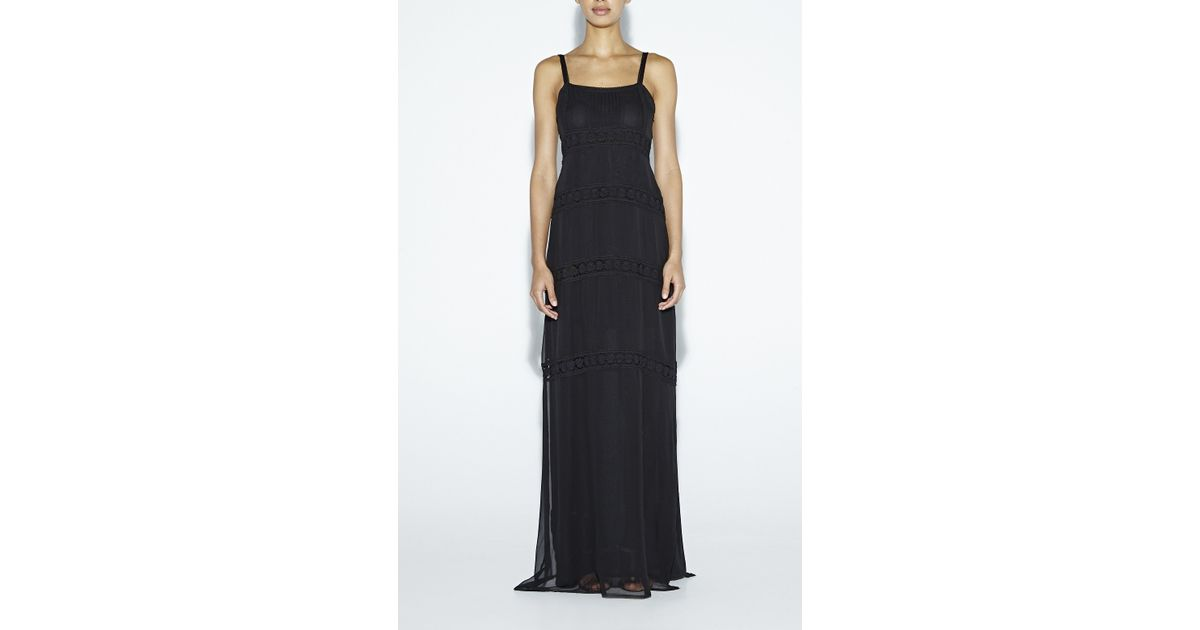 40061717fa9 Lyst - Nicole Miller Vintage Rose Maxi Dress in Black