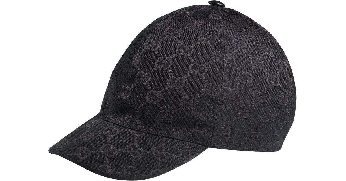 Gucci Gg Baseball Cap in Black for Men - Lyst 4bea28a5e165