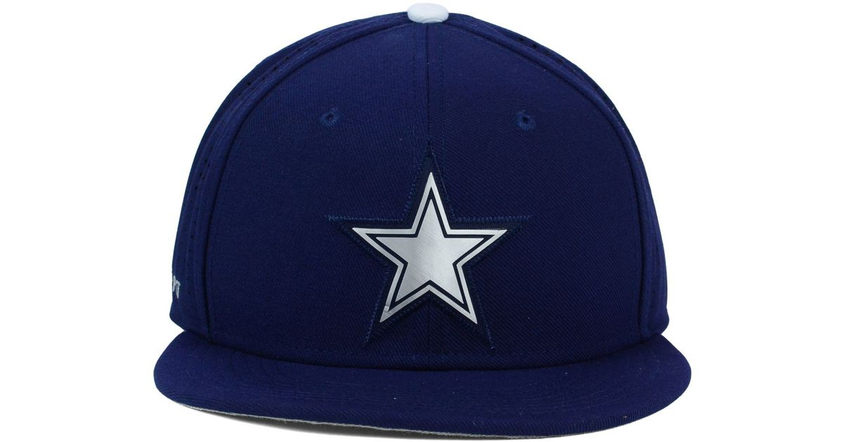 Lyst - Nike Dallas Cowboys True Vapor Fitted Cap in Blue for Men 39883feed2e8