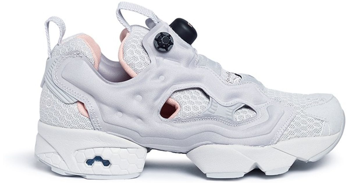 b4c2bea6c3b7c0 Reebok - Gray  instapump Fury Clshx  Slip-on Sneakers - Lyst