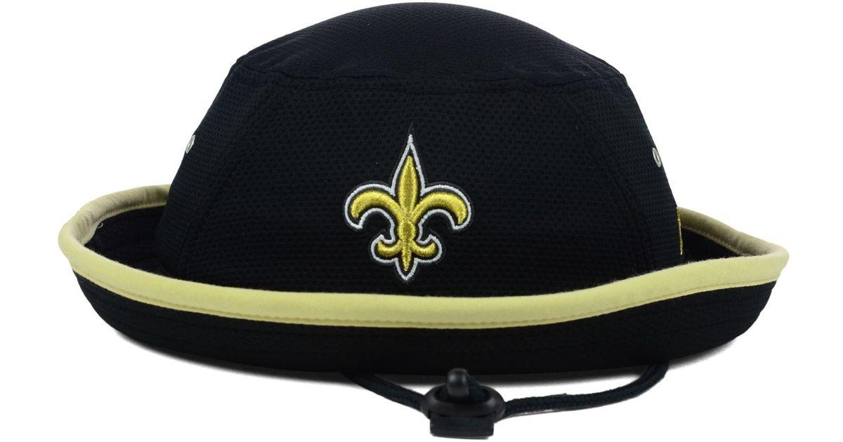 46bc802e395 Lyst - KTZ New Orleans Saints Tc Training Bucket Hat in Black for Men