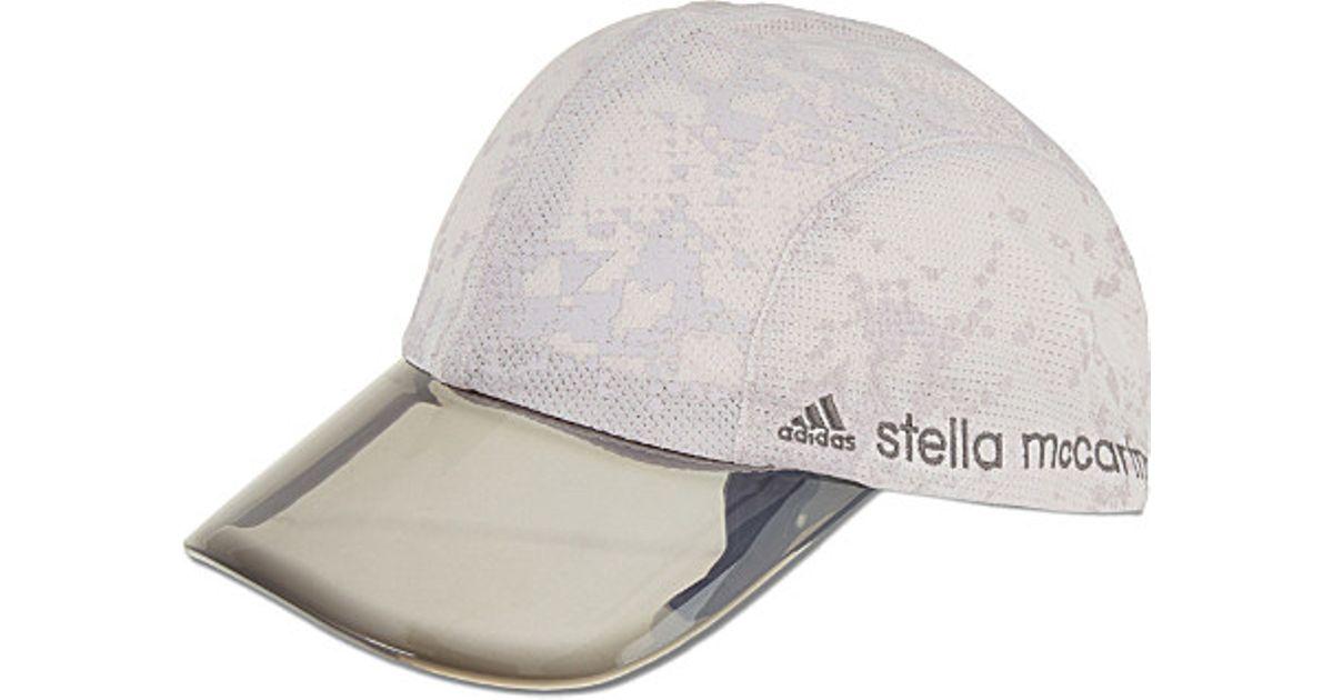 Lyst - adidas By Stella McCartney Adizero Running Cap in White a50b075c3c9