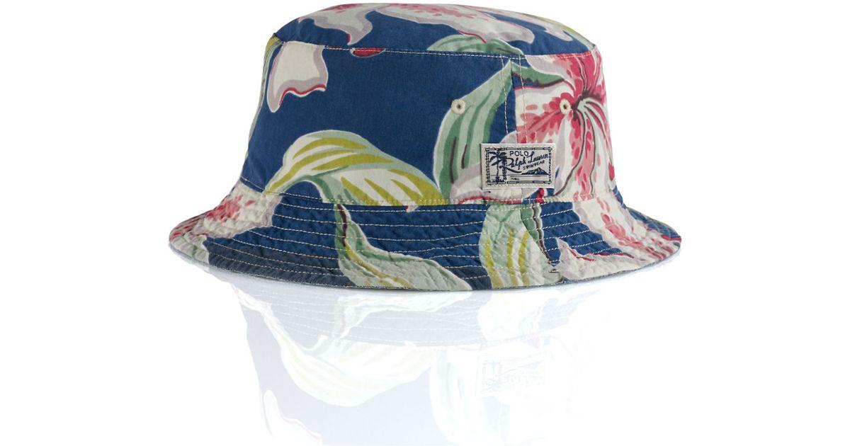 4da0a772b97 Polo Ralph Lauren Reversible Tropical Bucket Hat in Blue for Men - Lyst