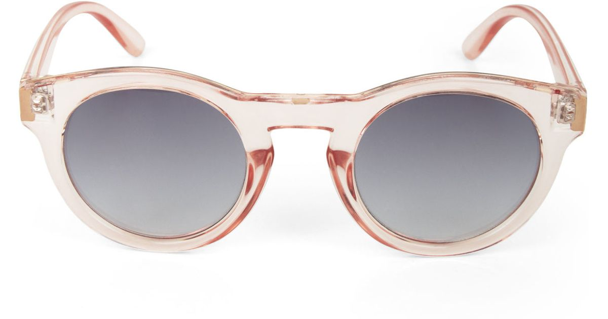 Bcbg Sunglasses  bcbgmaxazria retro bold cat eye sunglasses in pink lyst