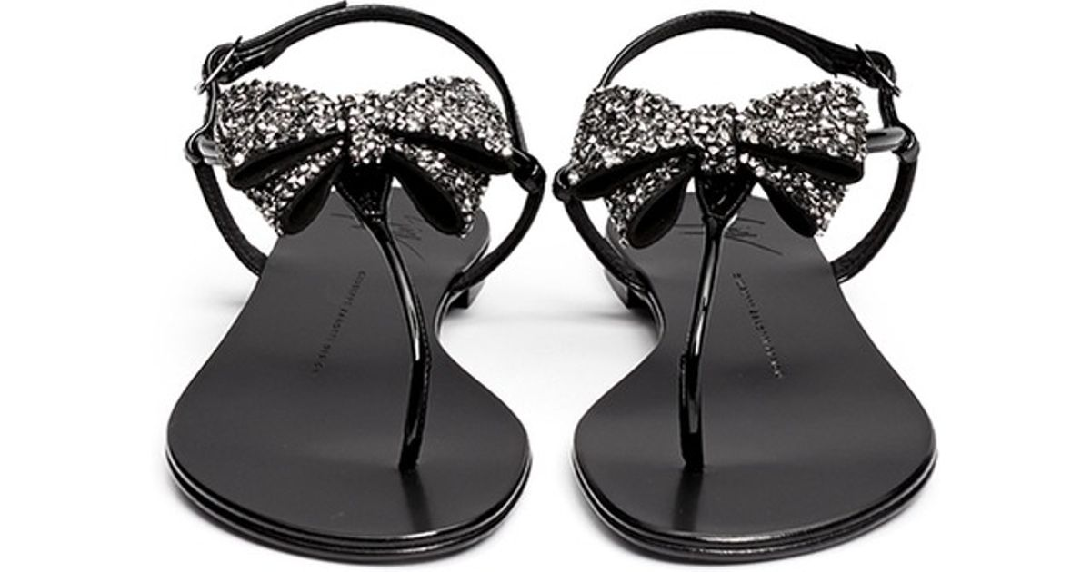 Giuseppe Zanotti Design crystal bow sandals quality free shipping for sale donHZYA