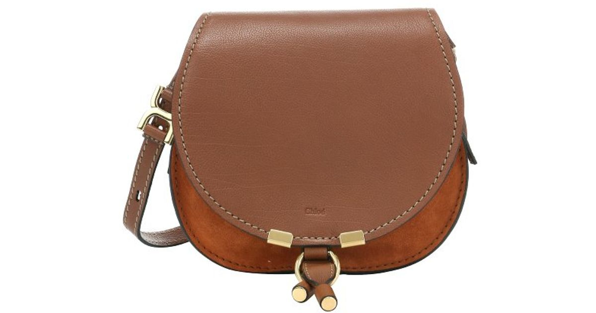 chloe fake - Chlo�� Classic Tobacco Calfskin \u0026#39;marcie Nude\u0026#39; Small Saddle Bag in ...