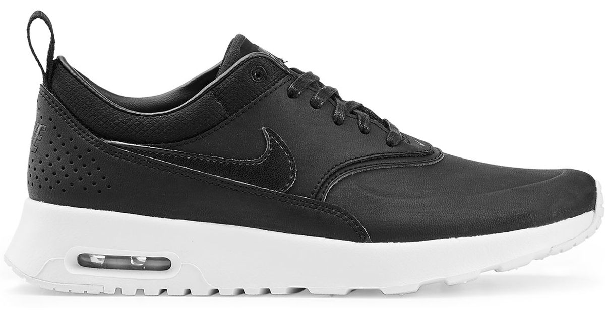 low priced f87f9 84eb3 Nike Air Max Thea Premium Leather Sneakers - Black in Black - Lyst