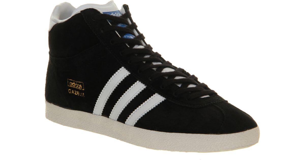 wholesale dealer a30d2 f585e adidas Gazelle Mid in Black for Men - Lyst