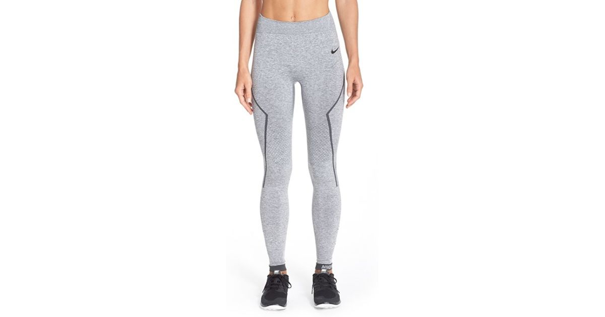 3398dbd52 Nike Pro Hyperwarm  limitless  Running Tights in Gray - Lyst