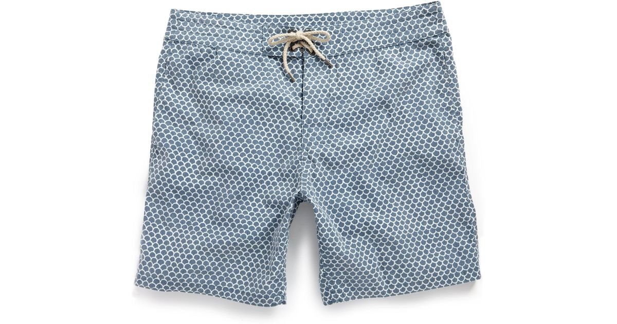 Lyst Faherty Brand Classic Boardshort 9 Inseam In Blue For Men