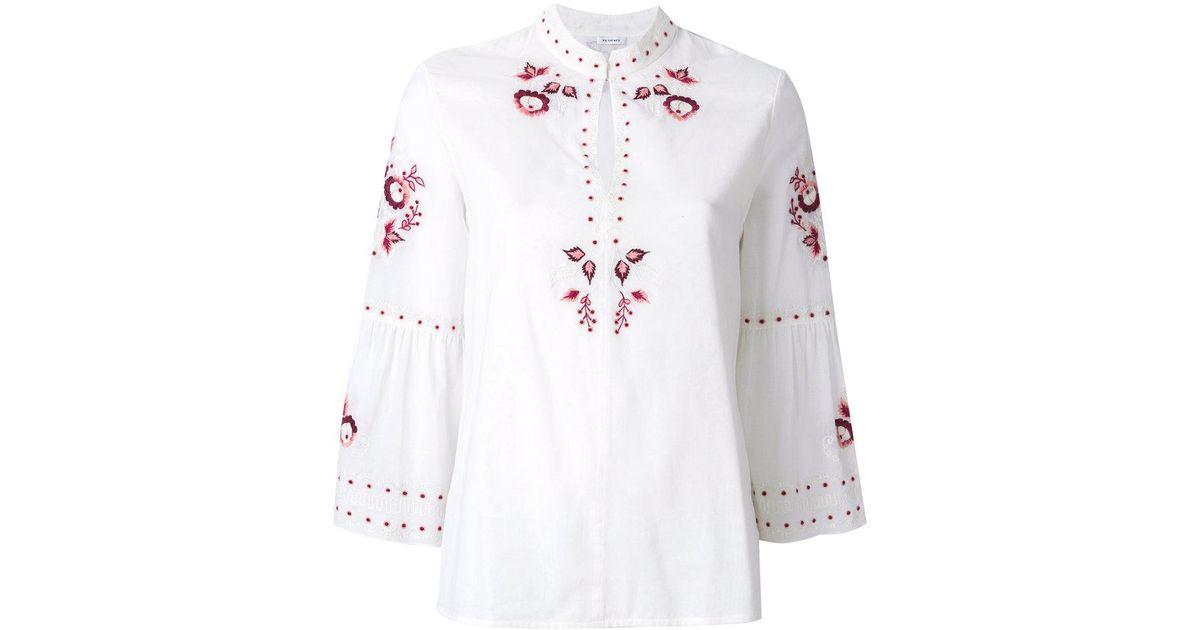 Vilshenko Woman Embroidered Cotton-piqué Top White Size 10 VILSHENKO Best Pbvfv