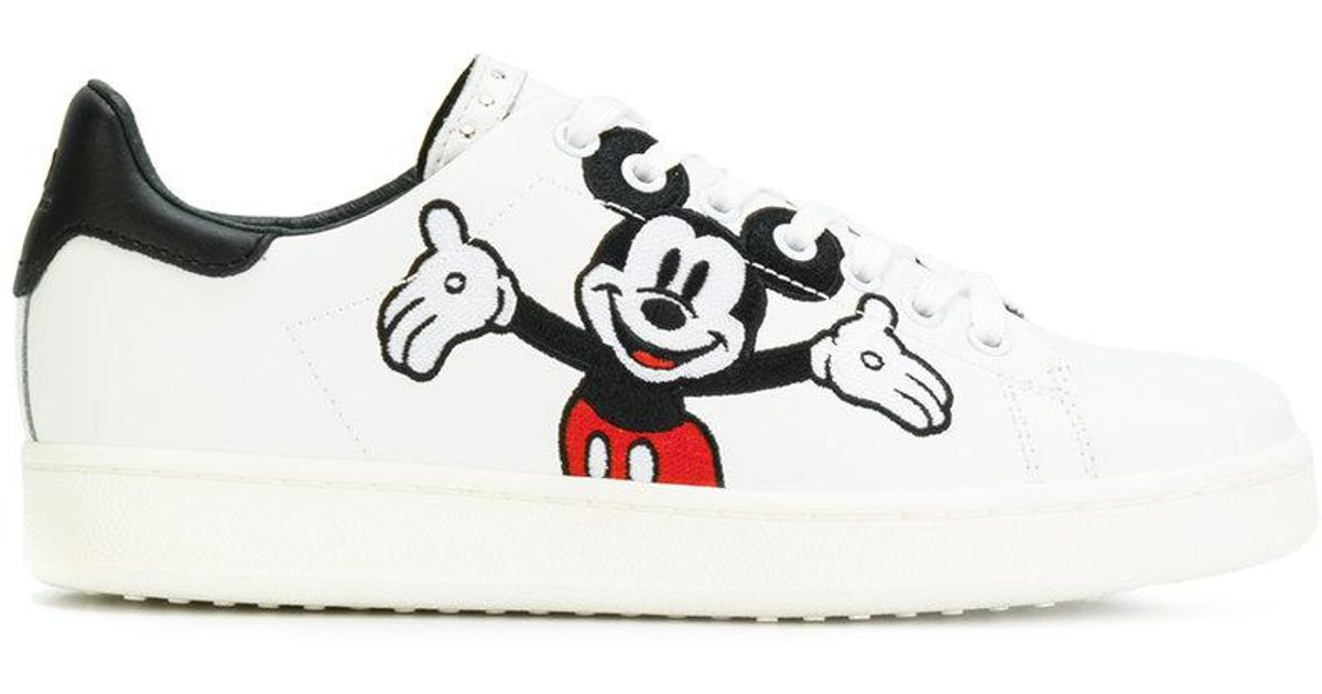 89e2d5a30786 Lyst - MOA Mickey Mouse Sneakers in White