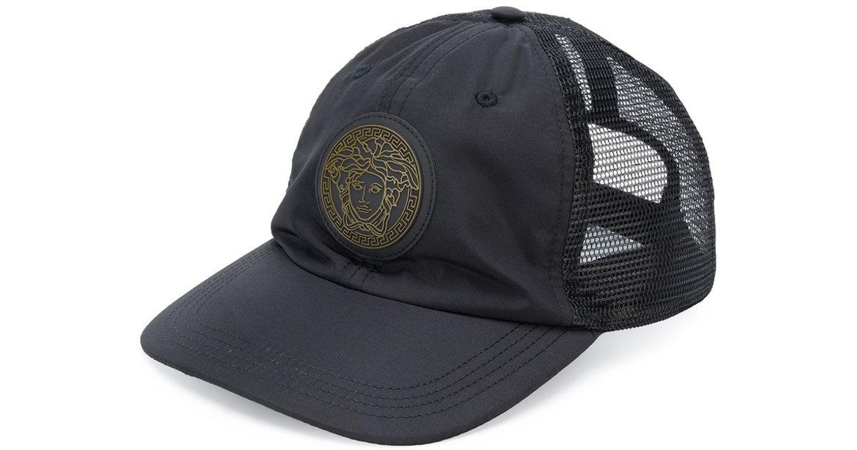 031057a7585 Lyst - Versace Mesh-panelled Baseball Cap in Black for Men