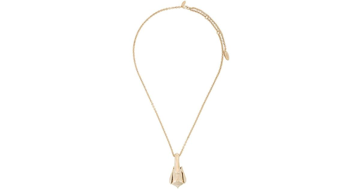 Lanvin swan feather necklace - Metallic ogDWL
