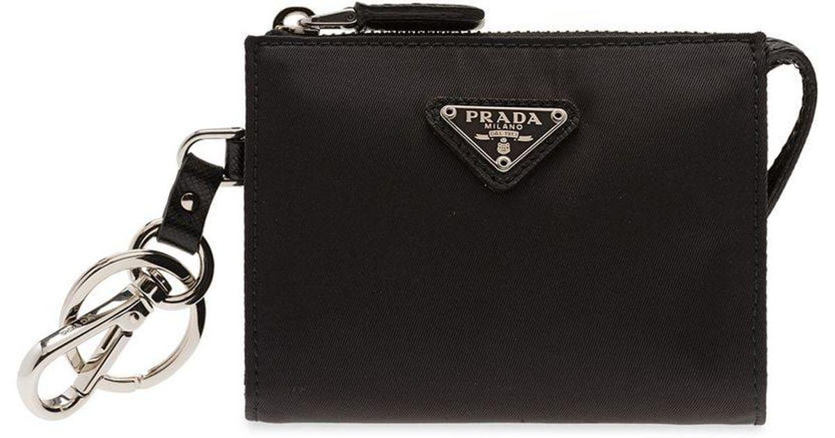 b9fd979600df Prada Nylon Mini Pouch in Black for Men - Lyst