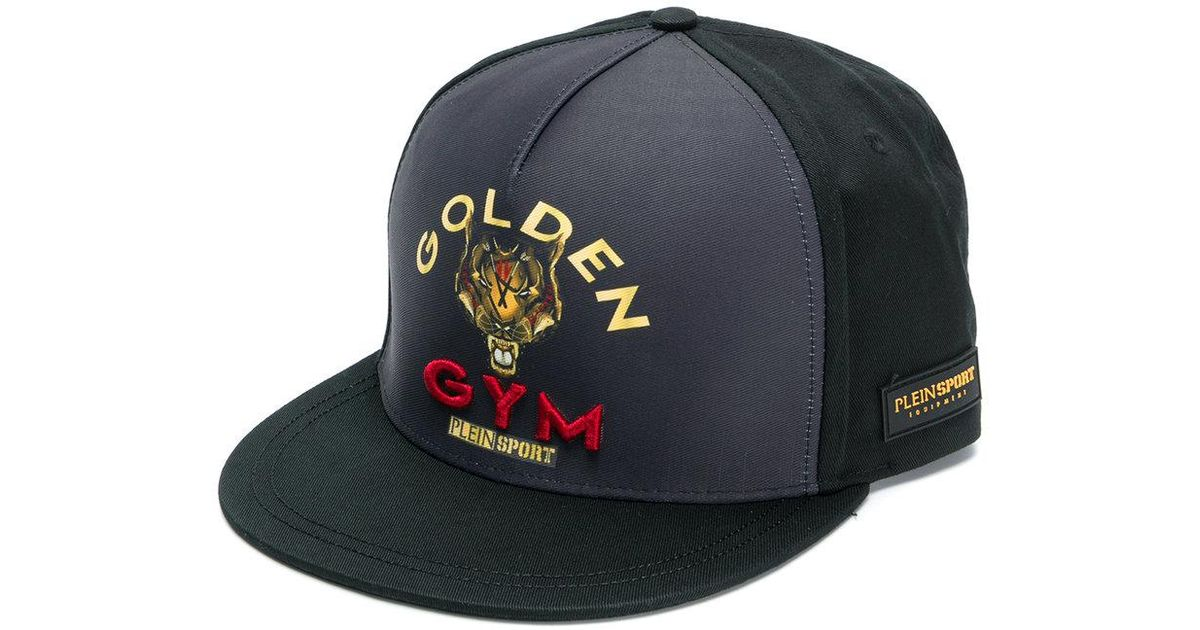 3978f5ed74f Philipp Plein Golden Gym Cap in Black for Men - Lyst