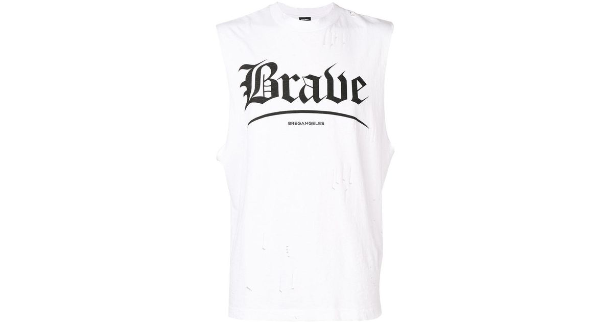 f80160fc82b9a Lyst - DIESEL Brave Tank Top in White for Men