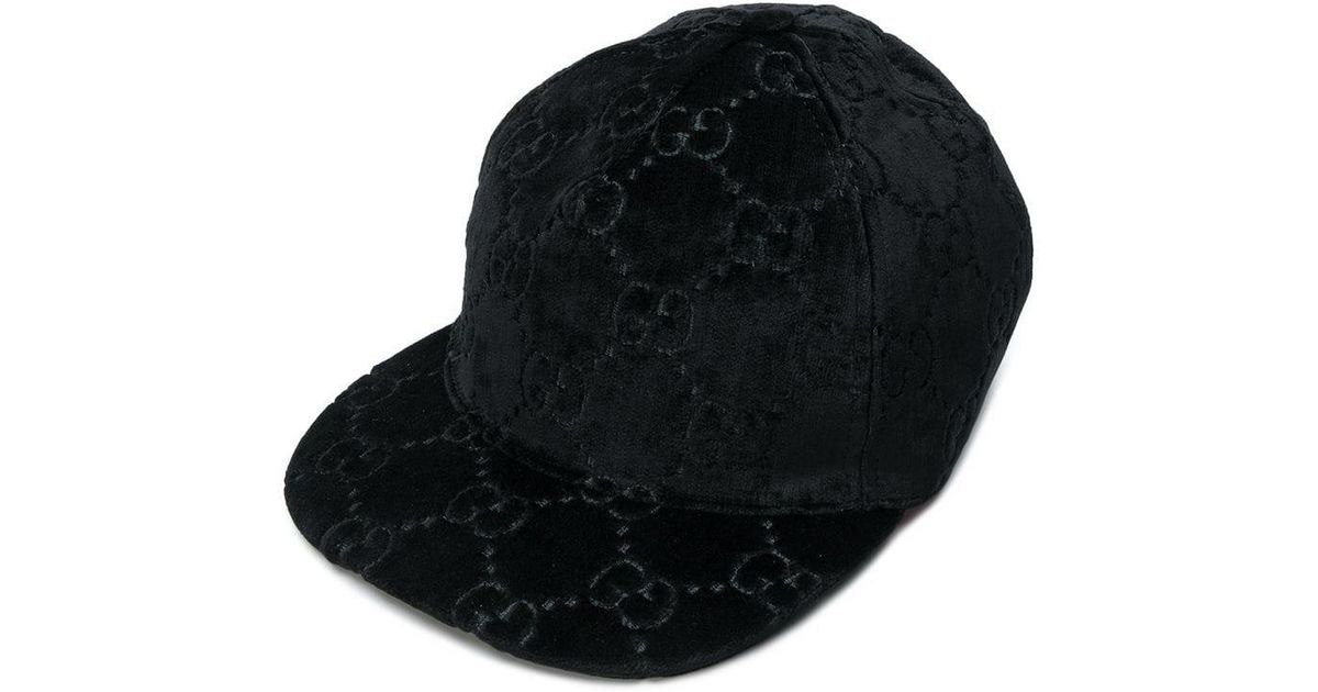 fb29aceebe53d Gucci Embossed Logo Hat in Black - Lyst