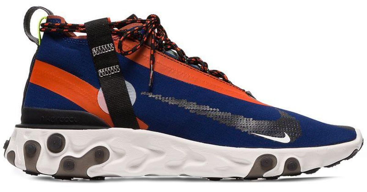 newest fbedd 2f5ea Nike Blue Orange And Black Ispa React Trainers in Blue for Men - Lyst
