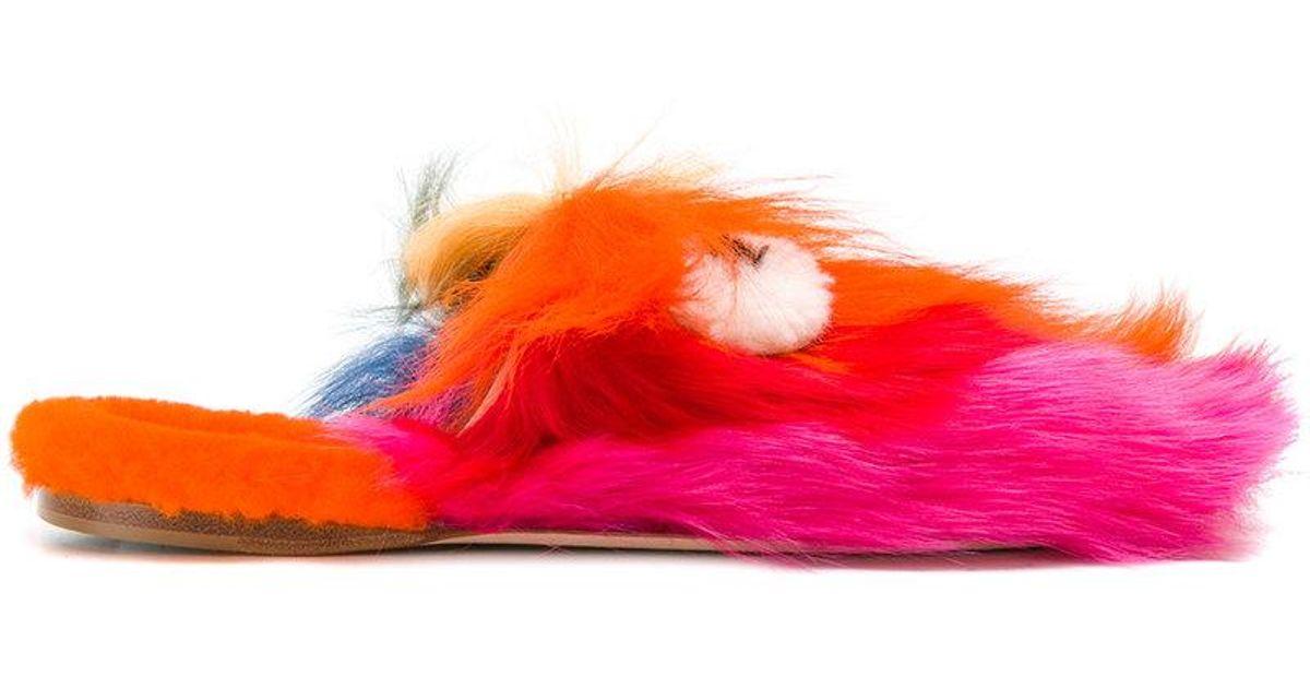 Anya Hindmarch Creeper fluffy sliders WE1NGq8