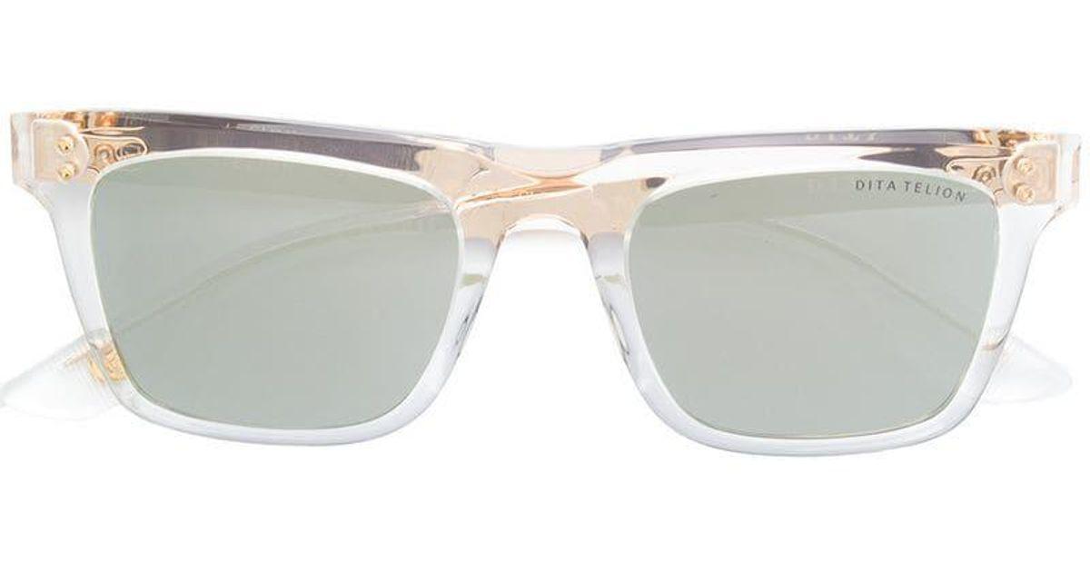 9f231fcf77bf Lyst - Dita Eyewear Square Tinted Sunglasses in Metallic