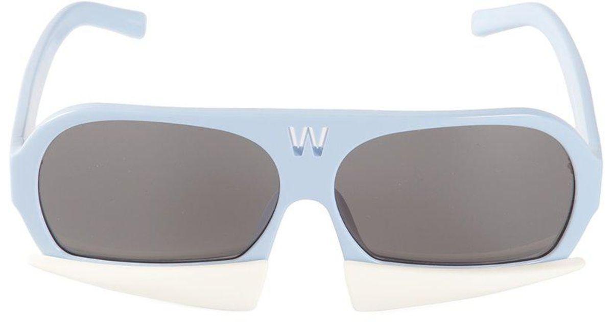 691676a463c Lyst - Linda Farrow  walter Van Beirendonck 7  Sunglasses in Blue