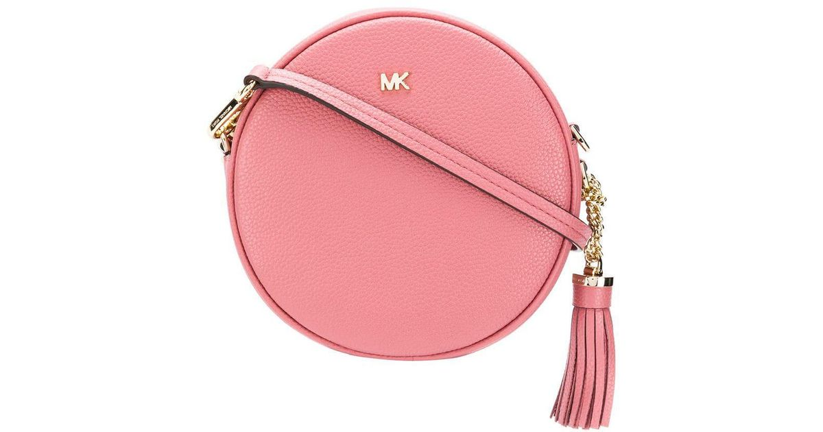 de81af20d2e451 Lyst - MICHAEL Michael Kors Mercer Circle Shoulder Bag in Pink
