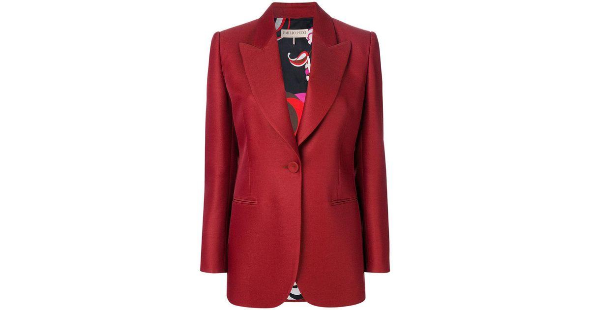 c2a4adf8f4c6 Emilio Pucci Longline Bow-embellished Blazer in Red - Lyst