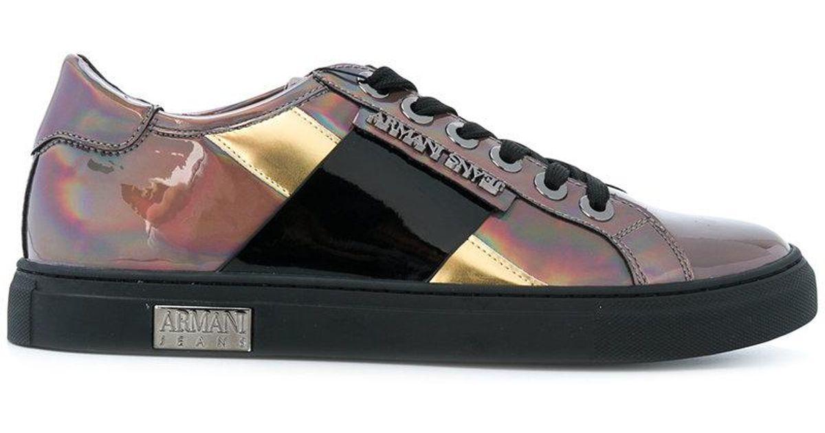 Armani Metallic sneakers GUcWnV