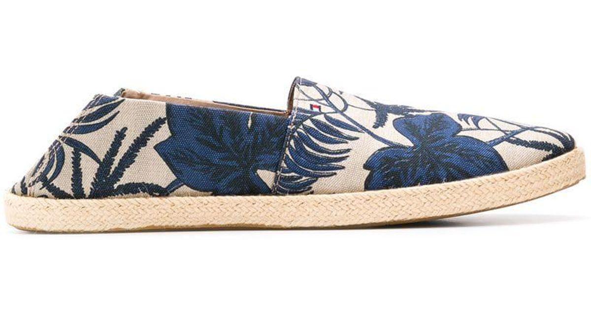 01d5c6dfd Tommy Hilfiger Tropical Leaf Print Espadrilles in Blue for Men - Lyst