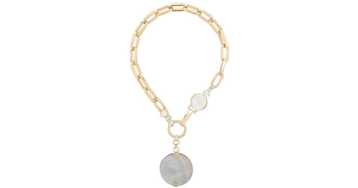 Elie Saab pendant chain necklace - Metallic ND4Tn