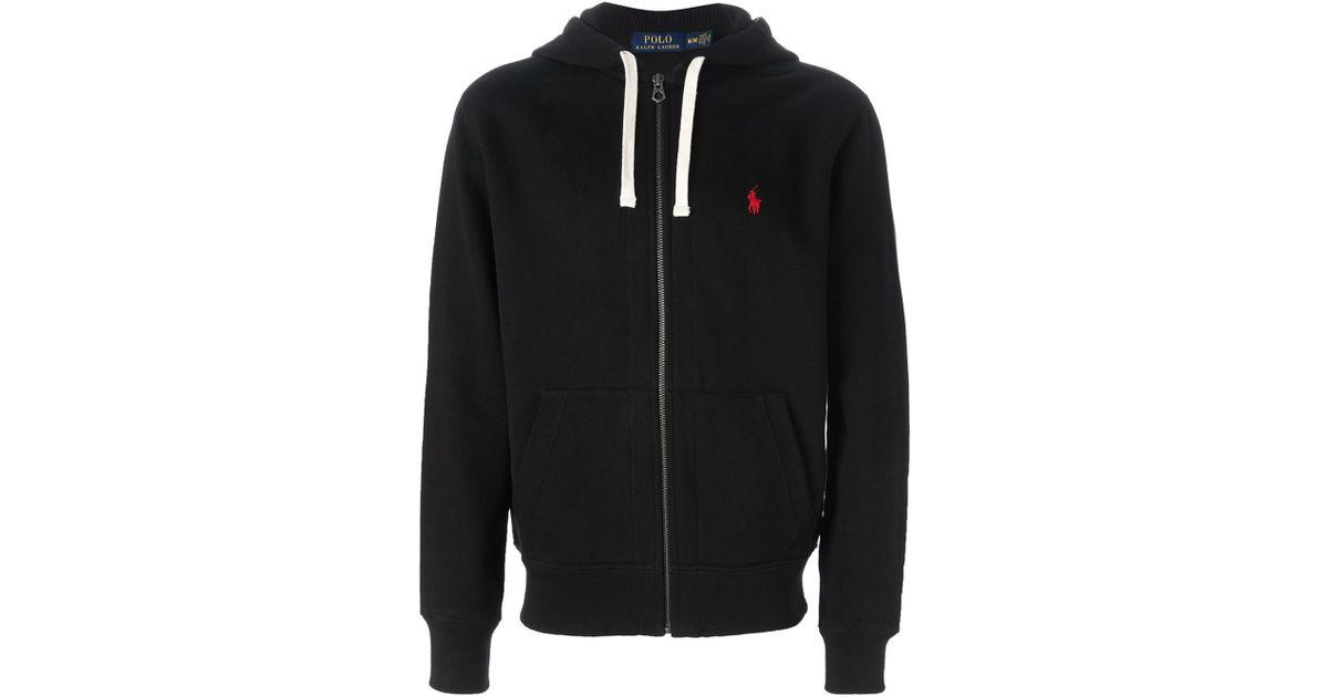 Polo Ralph Lauren Zip Up Hoodie In Black For Men Lyst