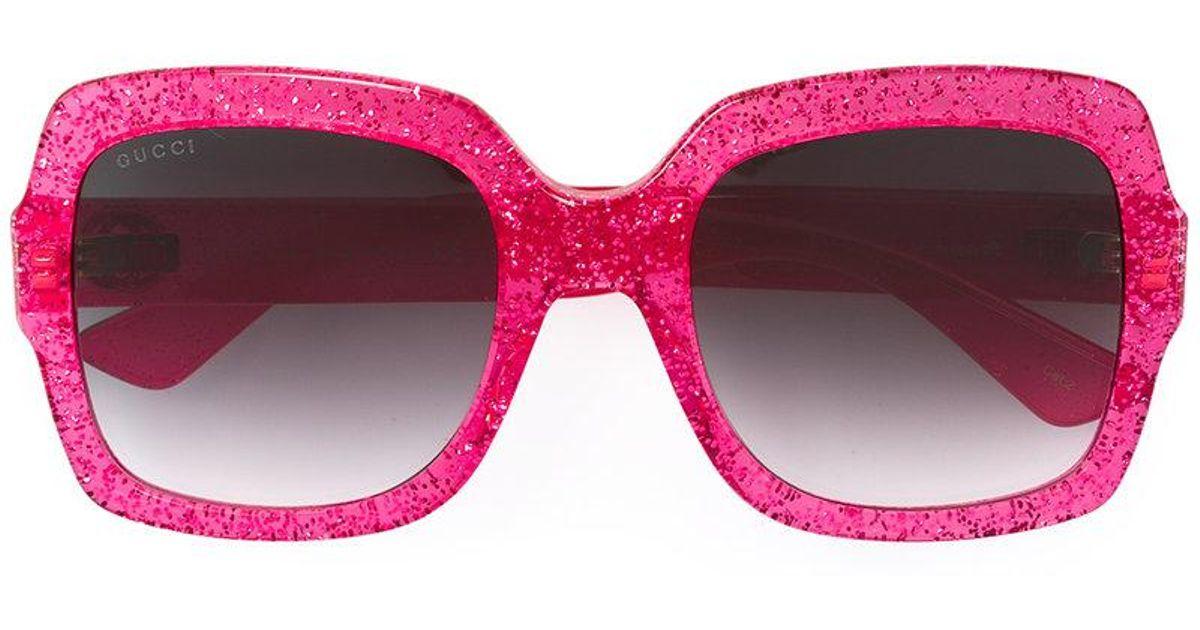 76b127d797d33 Gucci Glitter Optyl Template Sunglasses in Pink - Lyst