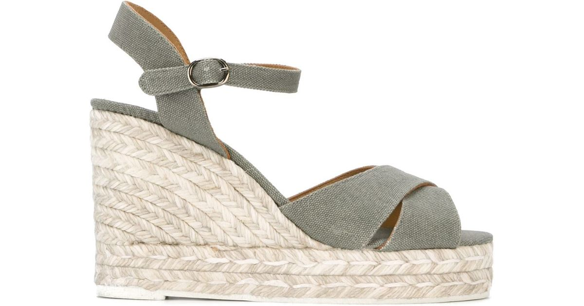 9338f53c2bb Lyst - Castaner Castañer  blaudell  Espadrille Wedge Sandals in Gray