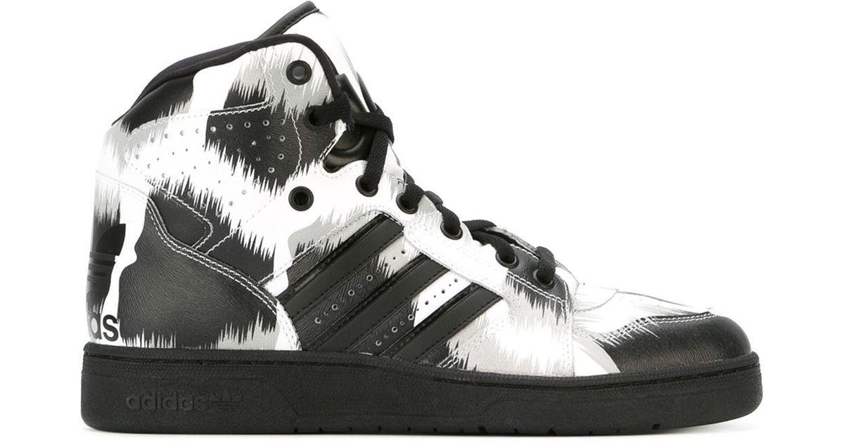 5cc74f11fb92 Lyst - adidas Originals X Jeremy Scott  Instinct  Hi-top Sneakers in Black  for Men