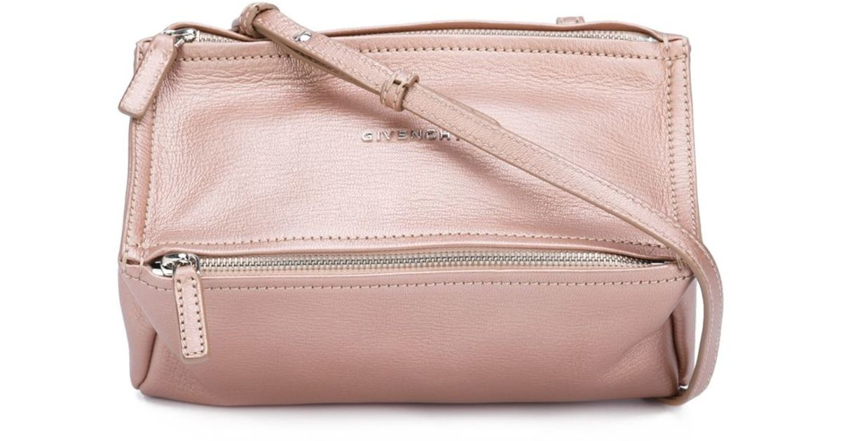 7f4c7f5ef778 Lyst - Givenchy Pandora Mini Chain Handbag in Pink