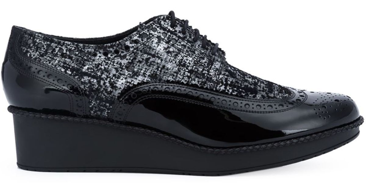 Robert Clergerie Viper Lace Up Shoes In Black Lyst